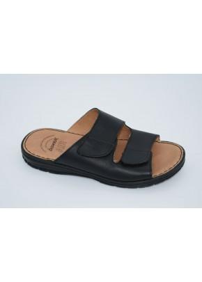 andrikes dermatines pantofles se mavro