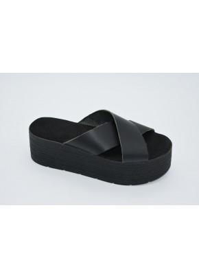 Γυναικεια Παπουτσια - gynaikeia flatforms - b2a - mavro