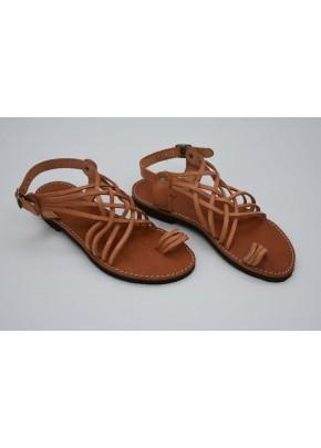 Γυναικεια Παπουτσια - gynaikeia xeiropoihta sandalia se fusiko derma
