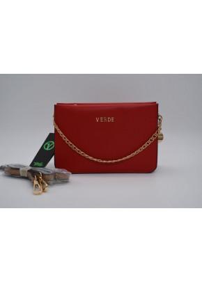 Γυναικεία Τσάντα Χιαστί Verde - 16-0005164 - Κόκκινο
